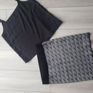 Mini Skirt and crop top